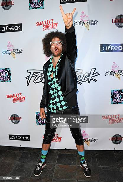 Recording Artist Redfoo arrives at Redfoo's 'Juicy Wiggle' Single Release Grammy After Party at Lucky Strike Bowling Alley on February 8 2015 in...