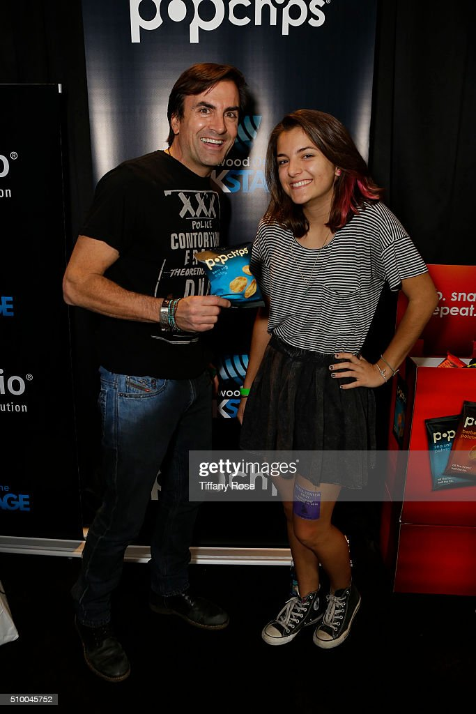 Recording Artist Rich & Mckena Thurber at popchips and Westwood One's Backstage at The GRAMMYS at Staples Center on February 13, 2016 in Los Angeles, California.