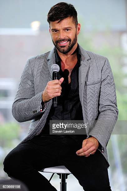Recording artist Ricky Martin attends a news conference announcing his residency at The Park Theater at the Monte Carlo Resort and Casino on November...