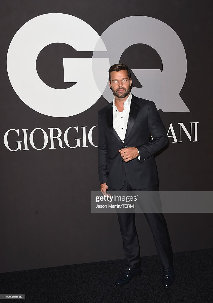 Recording artist <a gi-track='captionPersonalityLinkClicked' href=/galleries/search?phrase=Ricky+Martin&family=editorial&specificpeople=160450 ng-click='$event.stopPropagation()'>Ricky Martin</a> attends GQ and Giorgio Armani Grammys After Party at Hollywood Athletic Club on February 8, 2015 in Hollywood, California.