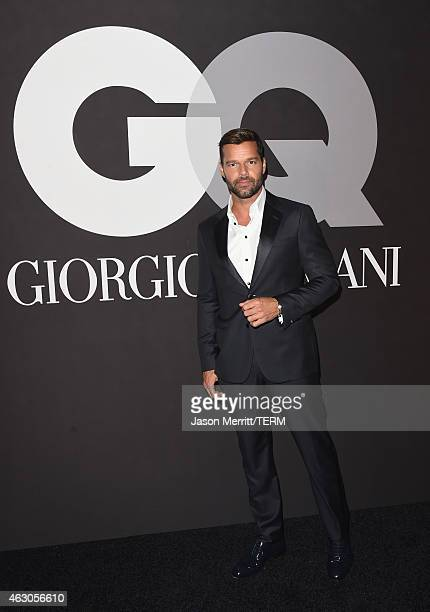 Recording artist Ricky Martin attends GQ and Giorgio Armani Grammys After Party at Hollywood Athletic Club on February 8 2015 in Hollywood California