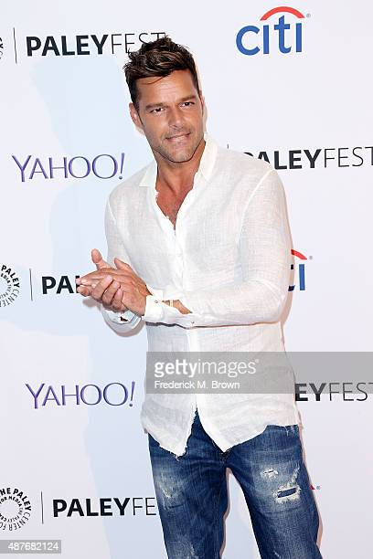 Recording artist Ricky Martin attends The Paley Center for Media's PaleyFest 2015 Fall TV Preview for Univision at The Paley Center for Media on...