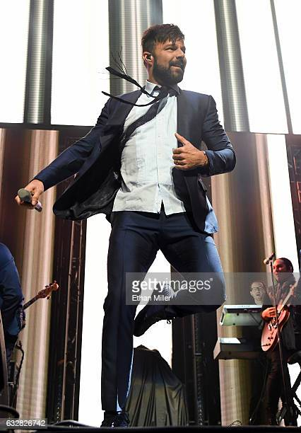 Recording artist Ricky Martin performs during Calibash Las Vegas at TMobile Arena on January 26 2017 in Las Vegas Nevada