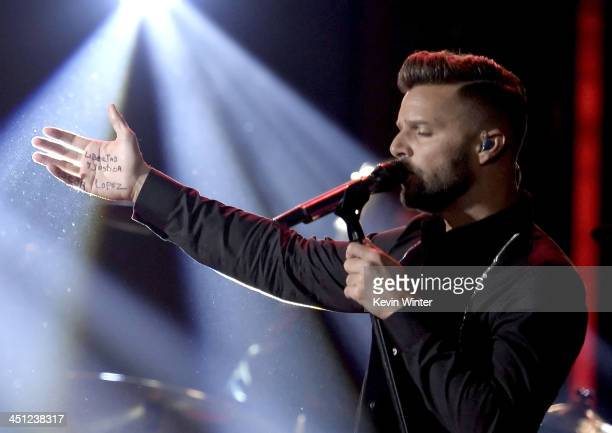 Recording artist Ricky Martin performs onstage during The 14th Annual Latin GRAMMY Awards at the Mandalay Bay Events Center on November 21 2013 in...