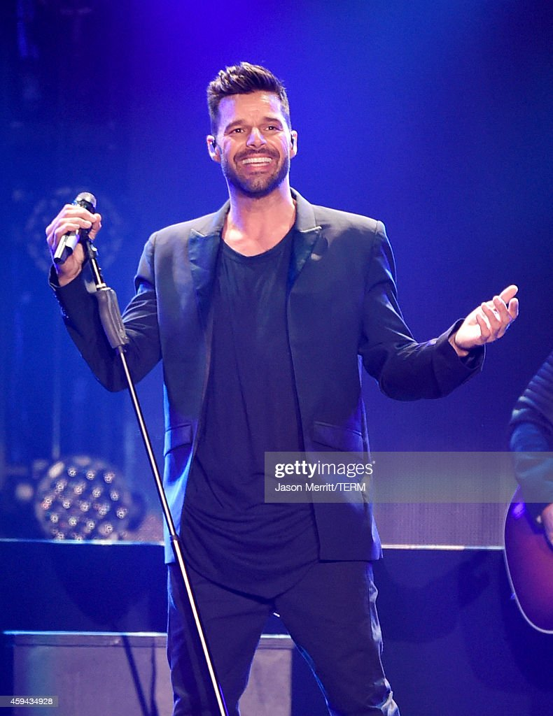 Recording artist <a gi-track='captionPersonalityLinkClicked' href=/galleries/search?phrase=Ricky+Martin&family=editorial&specificpeople=160450 ng-click='$event.stopPropagation()'>Ricky Martin</a> performs onstage during the iHeartRadio Fiesta Latina festival presented by Sprint at The Forum on November 22, 2014 in Inglewood, California.