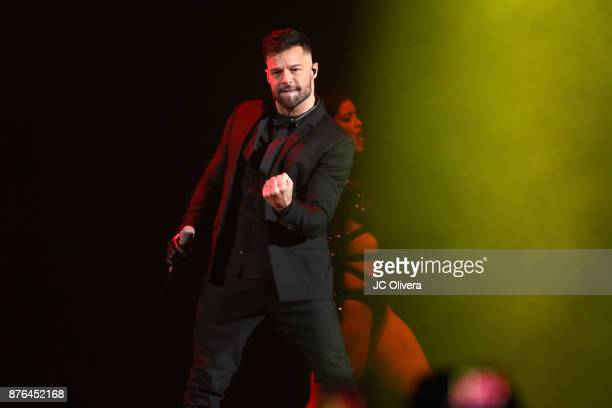 Recording artist Ricky Martin performs onstage during Uforia's 'KLove Live' at The Forum on November 19 2017 in Inglewood California