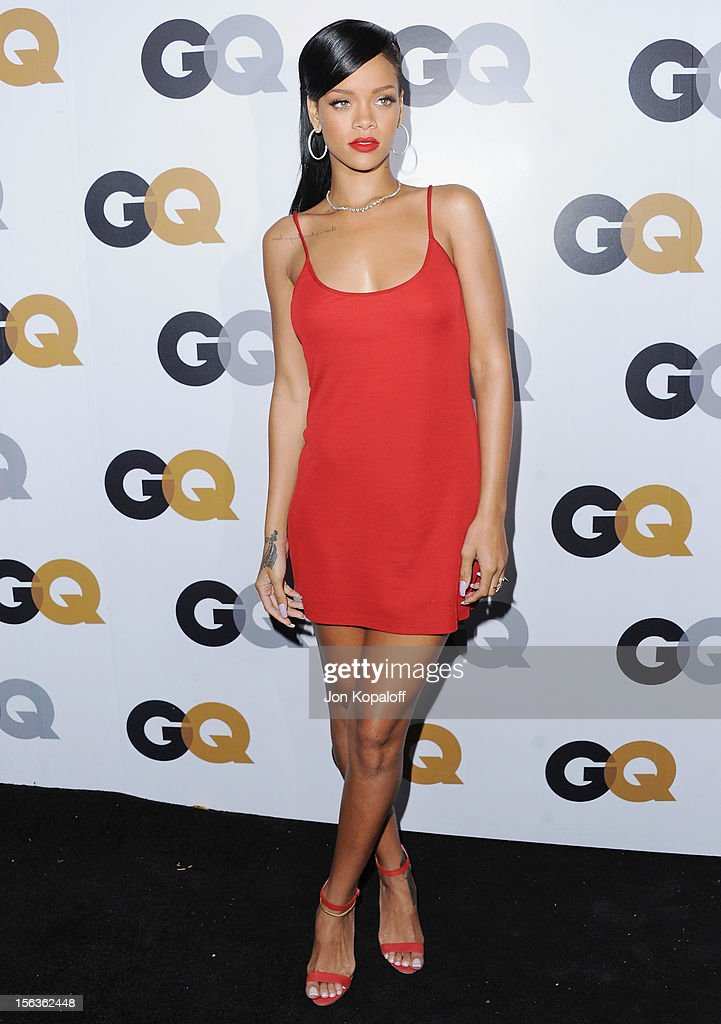 Recording artist Rihanna arrives at GQ Men Of The Year Party at Chateau Marmont on November 13, 2012 in Los Angeles, California.