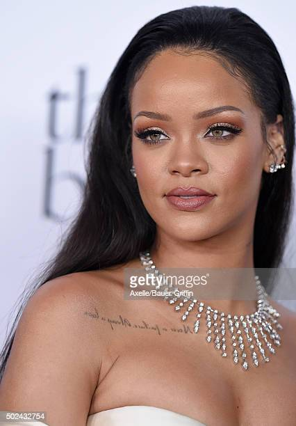Recording artist Rihanna arrives at Rihanna and The Clara Lionel Foundation Host 2nd Annual Diamond Ball at The Barker Hanger on December 10 2015 in...