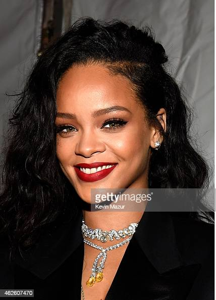 Recording artist Rihanna attends DirecTV Super Saturday Night hosted by Mark Cuban's AXS TV and Pro Football Hall of Famer Michael Strahan at...