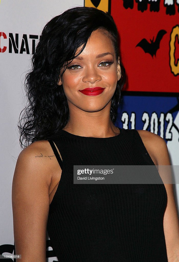 Recording artist Rihanna attends her naming as the Queen of the West Hollywood Halloween Carnaval by the City of West Hollywood in celebration of Halloween 2012 at Greystone Manor Supperclub on October 31, 2012 in West Hollywood, California.