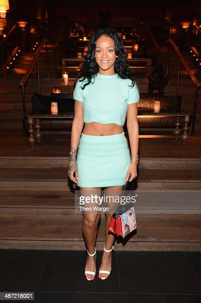 Recording artist Rihanna attends Roc Nation Sports 1 Year Anniversary Luncheon at TAO Downtown on April 28 2014 in New York City