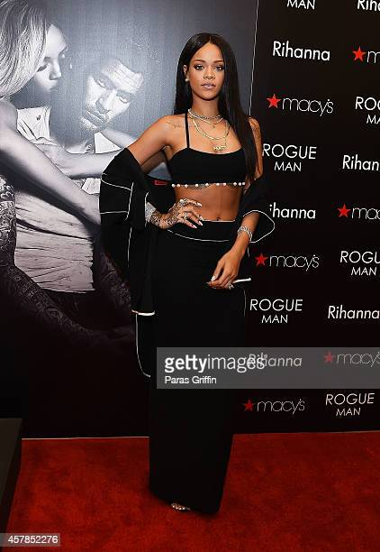 Recording artist Rihanna attends ROGUE MAN Fragrance Launch at Macy's at Lenox Square on October 25 2014 in Atlanta Georgia