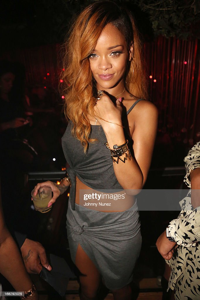 Recording artist Rihanna attends Talib Kweli's Album Release Party at Greenhouse on May 7, 2013, in New York City.