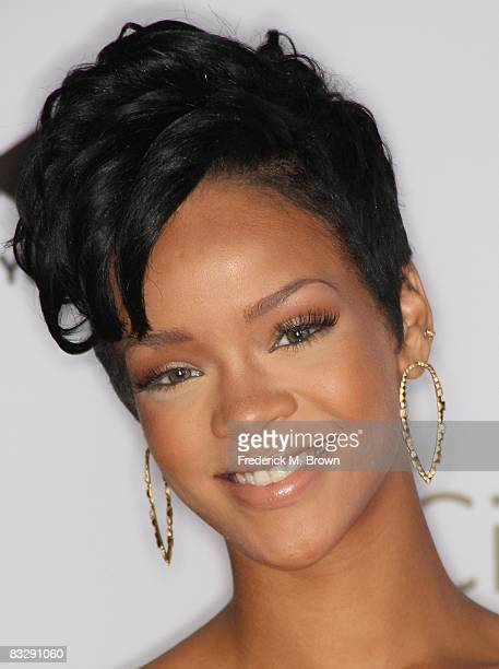 Recording artist Rihanna attends the 2008 Spirit of Life Award dinner honoring Doug Morris on October 15 2008 in Santa Monica California