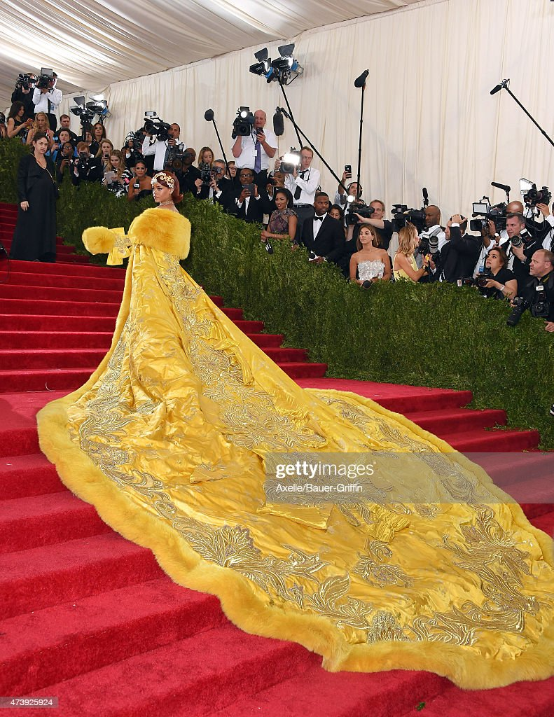 Recording artist Rihanna attends the 'China: Through The Looking Glass' Costume Institute Benefit Gala at the Metropolitan Museum of Art on May 4, 2015 in New York City.
