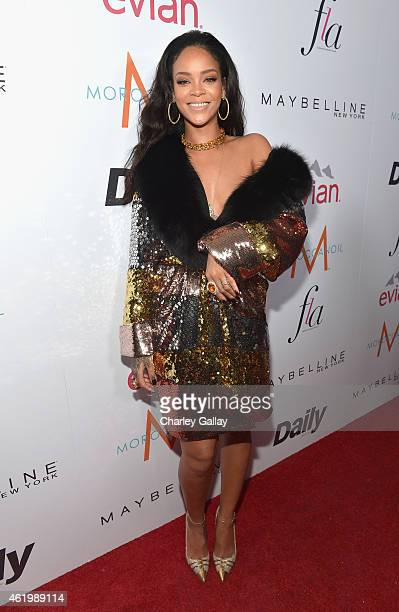 Recording artist Rihanna attends The DAILY FRONT ROW 'Fashion Los Angeles Awards' Show at Sunset Tower on January 22 2015 in West Hollywood California