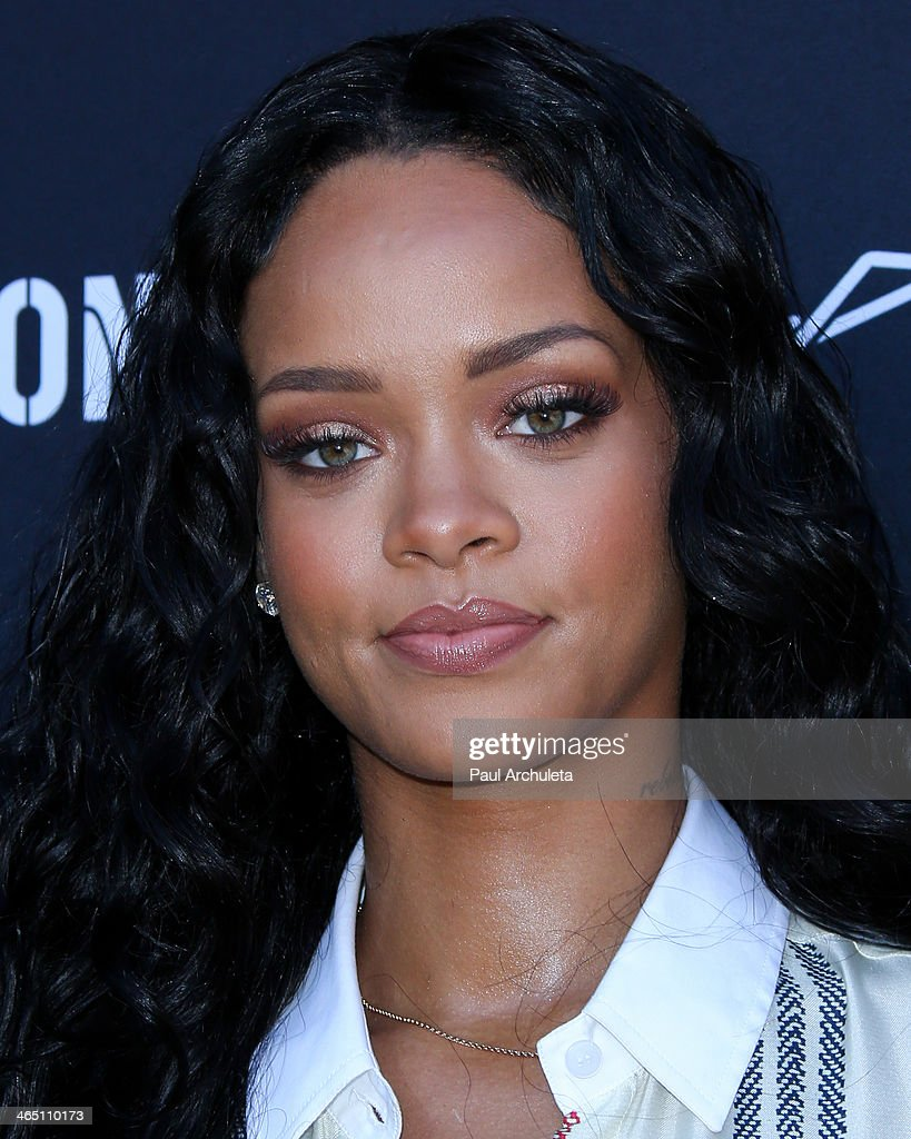 Recording Artist <a gi-track='captionPersonalityLinkClicked' href=/galleries/search?phrase=Rihanna&family=editorial&specificpeople=453439 ng-click='$event.stopPropagation()'>Rihanna</a> attends the Roc Nation pre-Grammy brunch on January 25, 2014 in Los Angeles, California.
