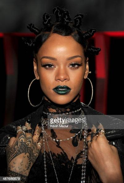 Recording artist Rihanna in the audience at the 2014 iHeartRadio Music Awards held at The Shrine Auditorium on May 1 2014 in Los Angeles California...