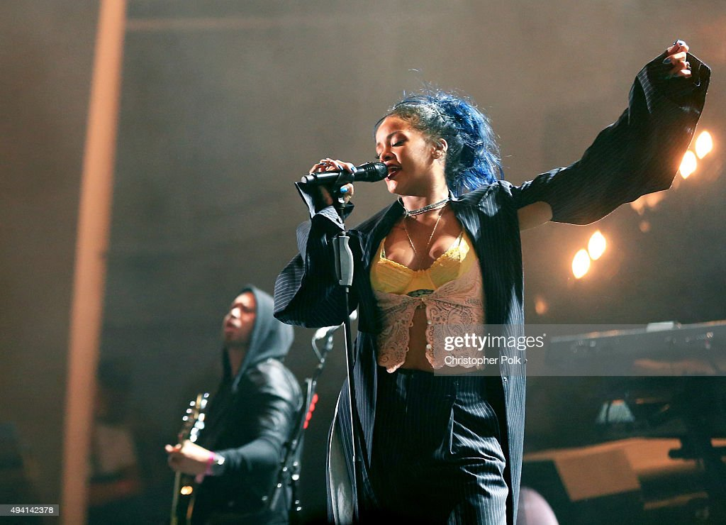 Recording artist Rihanna performs onstage during CBS RADIOs third annual We Can Survive, presented by Chrysler, at the Hollywood Bowl on October 24, 2015 in Hollywood, California.