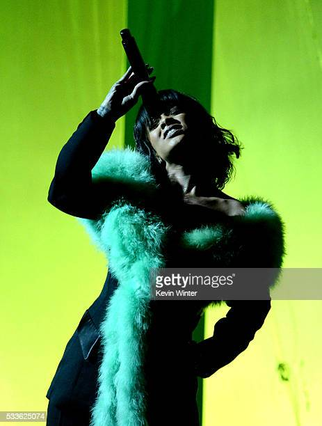 Recording artist Rihanna performs onstage during the 2016 Billboard Music Awards at TMobile Arena on May 22 2016 in Las Vegas Nevada