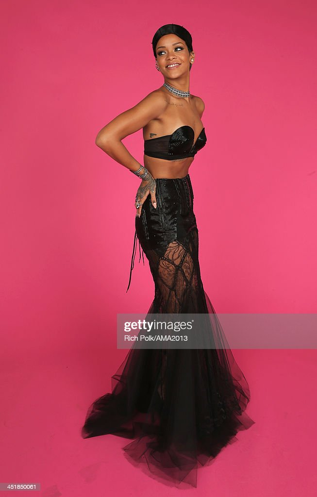 Recording artist <a gi-track='captionPersonalityLinkClicked' href=/galleries/search?phrase=Rihanna&family=editorial&specificpeople=453439 ng-click='$event.stopPropagation()'>Rihanna</a> poses for a portrait during the 2013 American Music Awards at Nokia Theatre L.A. Live on November 24, 2013 in Los Angeles, California.