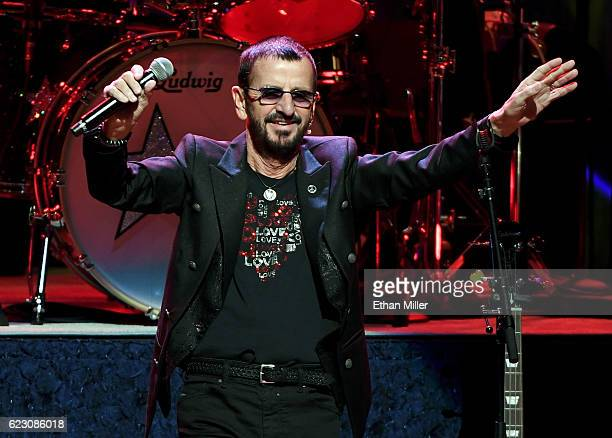 Recording artist Ringo Starr performs with Ringo Starr His AllStarr Band at The Smith Center for the Performing Arts on November 13 2016 in Las Vegas...