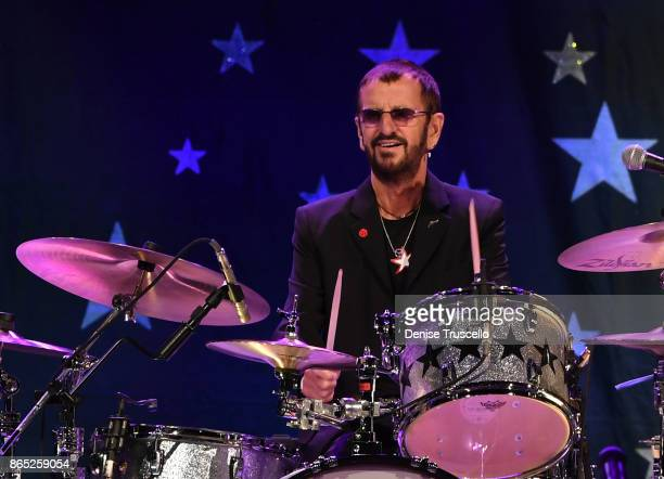 Recording artist Ringo Starr performs with Ringo Starr His AllStarr Band at Planet Hollywood Resort Casino in support of his new album 'Give More...