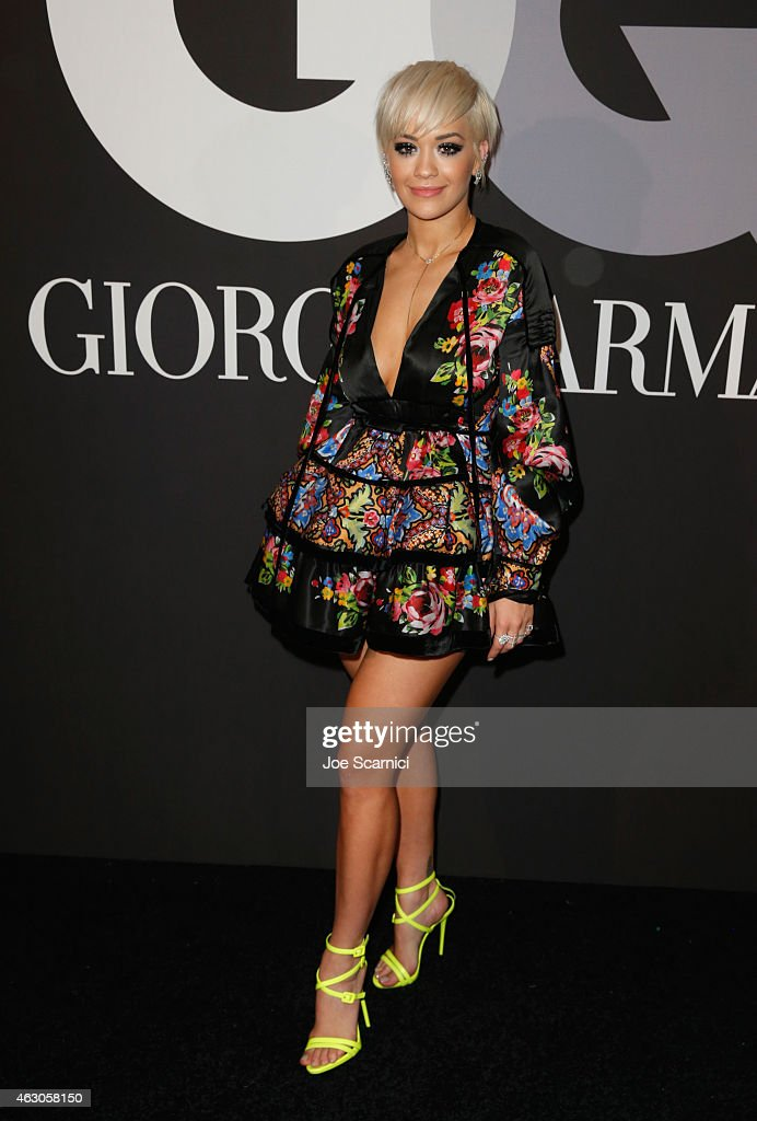 Recording artist Rita Ora attends GQ and Giorgio Armani Grammys After Party at Hollywood Athletic Club on February 8 2015 in Hollywood California