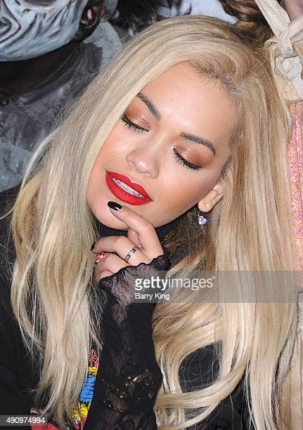 Recording Artist Rita Ora attends Knott's Scary Farm Black Carpet at Knott's Berry Farm on October 1 2015 in Buena Park California