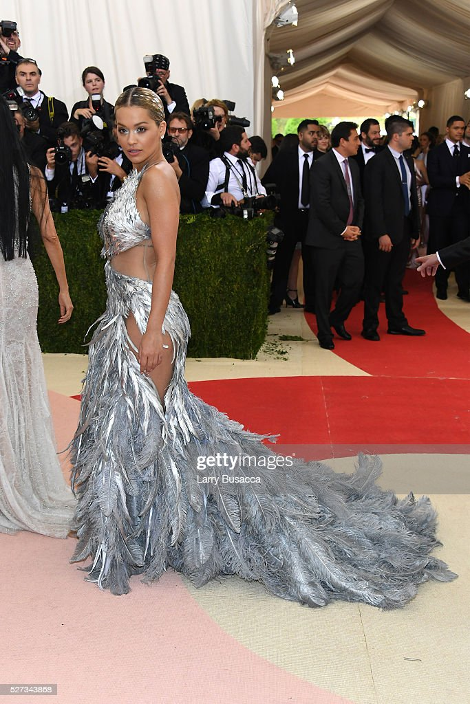 Recording artist Rita Ora attends the 'Manus x Machina: Fashion In An Age Of Technology' Costume Institute Gala at Metropolitan Museum of Art on May 2, 2016 in New York City.