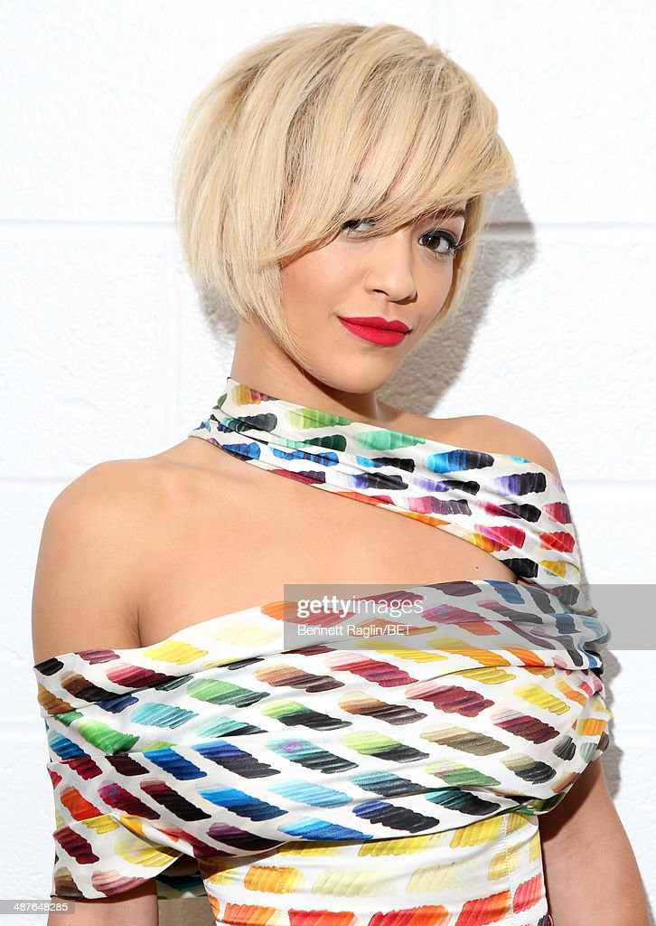 Recording artist <a gi-track='captionPersonalityLinkClicked' href=/galleries/search?phrase=Rita+Ora&family=editorial&specificpeople=5686485 ng-click='$event.stopPropagation()'>Rita Ora</a> visits 106 & Park at BET studio on April 30, 2014 in New York City.