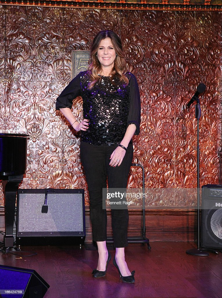Recording artist Rita Wilson attends the Press Preview at 54 Below on April 12 2013 in New York City