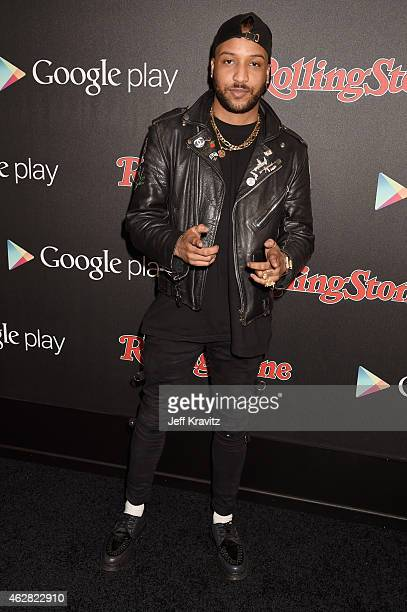 Recording artist Ro James attends Rolling Stone and Google Play event during Grammy Week at the El Rey Theatre on February 5 2015 in Los Angeles...