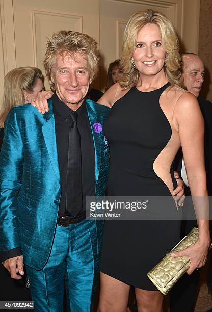 Recording artist Rod Stewart and model Penny Lancaster attend the 2014 Carousel of Hope Ball presented by MercedesBenz at The Beverly Hilton Hotel on...