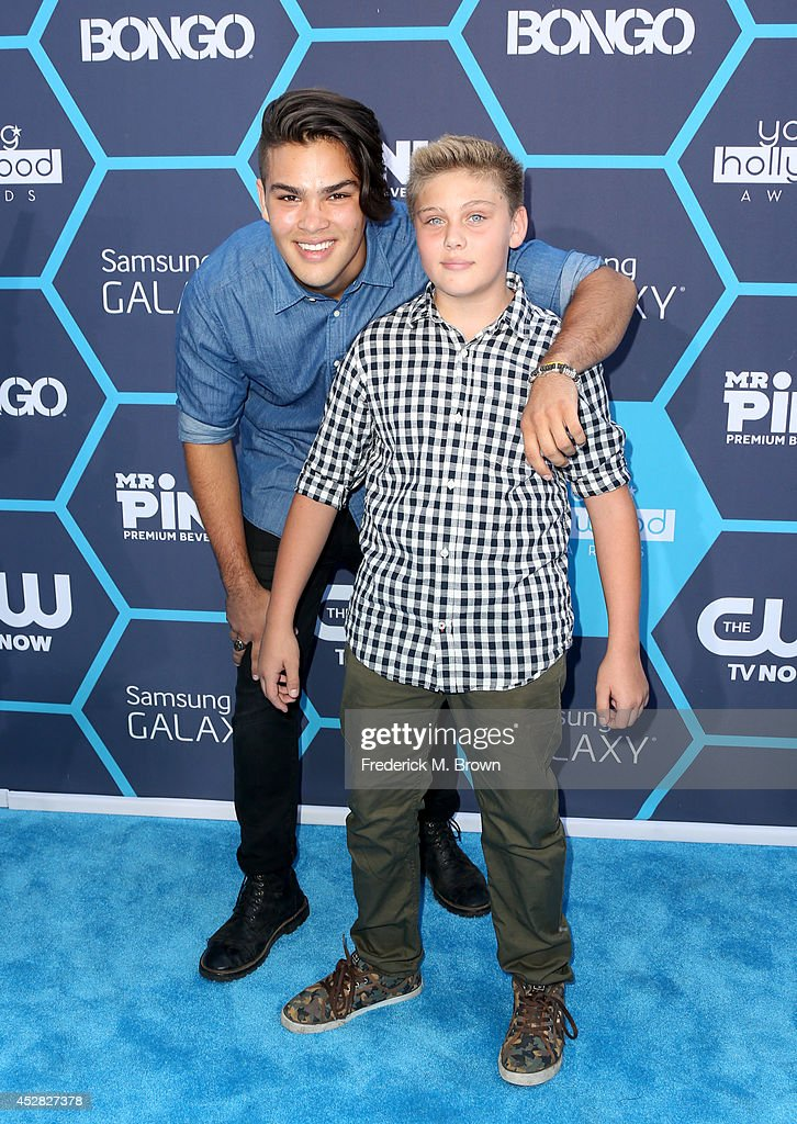 Recording artist Romeo Testa (L) and guest attend the 2014 Young Hollywood Awards brought to you by Samsung Galaxy at The Wiltern on July 27, 2014 in Los Angeles, California.