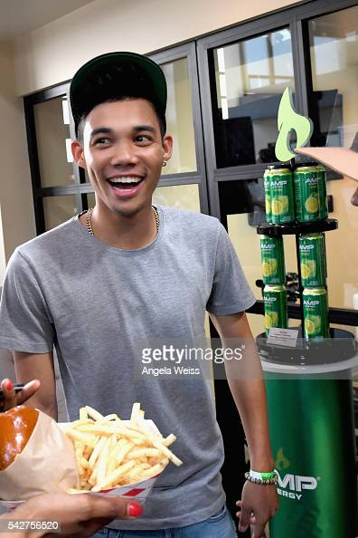Recording artist Roshon Fegan attends Next Level Presented By AMP Energy A Hip Hop Gaming Tournament at Rostrum Records on June 23 2016 in Los...
