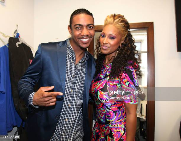 recording artist Rudy Currence and singer Olivia attend the Apple Store Soho on June 22 2011 in New York City