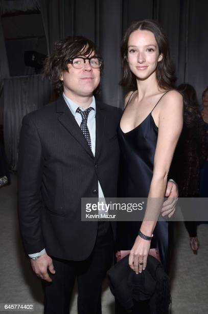 Recording artist Ryan Adams and model Megan Butterworth attend the 25th Annual Elton John AIDS Foundation's Academy Awards Viewing Party at The City...