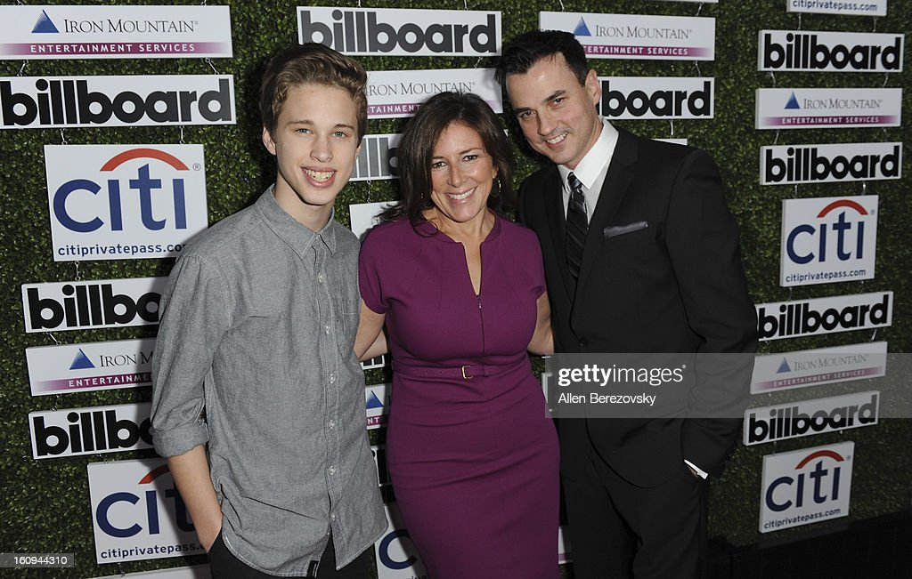 Recording artist <a gi-track='captionPersonalityLinkClicked' href=/galleries/search?phrase=Ryan+Beatty&family=editorial&specificpeople=8710529 ng-click='$event.stopPropagation()'>Ryan Beatty</a>, Senior VP of Experential Marketing at Citi Jennifer Breithaupt and publisher of Billboard Tommy Page attend the 1st Annual Billboard Power 100 Event honoring Clive Davis at The Redbury Hotel on February 7, 2013 in Hollywood, California.