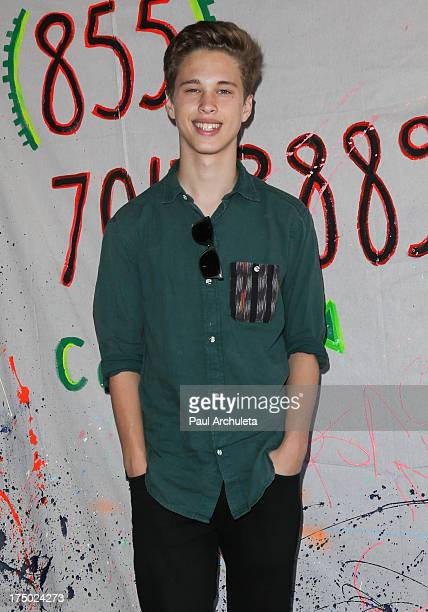 Recording Artist Ryan Beatty visits TOMS Shoes flagship store on July 29 2013 in Venice California