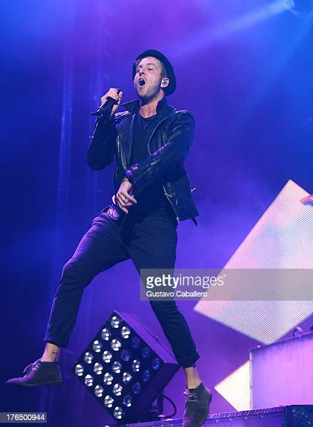 Recording artist Ryan Tedder of One Republic performs at Hard Rock Live in the Seminole Hard Rock Hotel Casino on August 13 2013 in Hollywood Florida