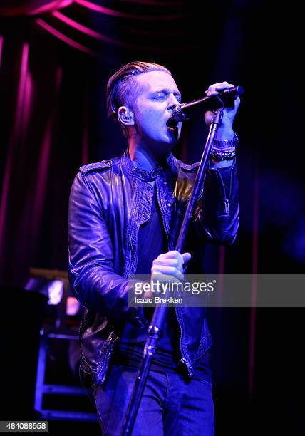 Recording artist Ryan Tedder of OneRepublic performs onstage at the iHeartRadio Ultimate Valentine's Escape at Brooklyn Bowl at the LINQ in Las Vegas...