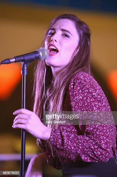 Recording artist Ryn Weaver performs at JetBlue's Terminal 5 at JFK International Airport on February 2 2015 in New York City