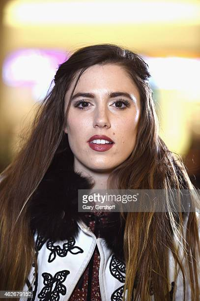 Recording artist Ryn Weaver seen at JetBlue's Terminal 5 at JFK International Airport on February 2 2015 in New York City