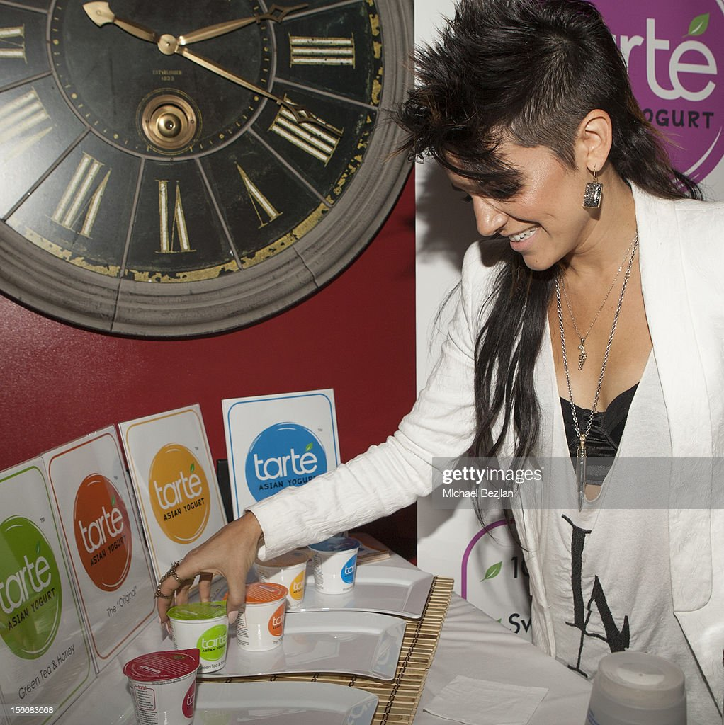 Recording Artist Sabrina attends Interscope Records AMA After Party Hosted By NIVEA Lip Butters & Ciroc Ultra Premium Vodka Portraits Inside on November 18, 2012 in Los Angeles, California.