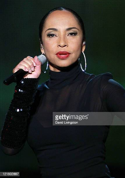 Recording artist Sade performs on stage at the Staples Center on August 19 2011 in Los Angeles California