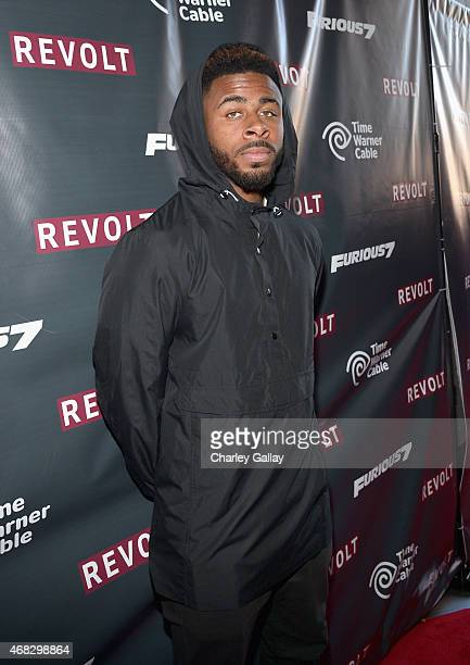 Recording artist Sage The Gemini attends an exclusive 'Furious 7' concert hosted by Revolt Live at Hollywood Studio at Hollywood and Highland on...