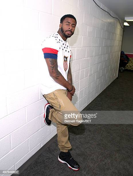 Recording artist Sage the Gemini visits 106 Park at BET studio on July 30 2014 in New York City
