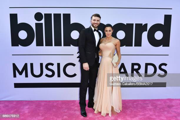 Recording artist Sam Hunt and Hannah Lee Fowler attend the 2017 Billboard Music Awards at TMobile Arena on May 21 2017 in Las Vegas Nevada