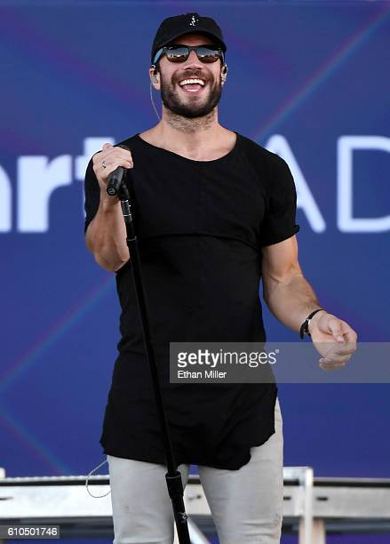 Recording artist Sam Hunt performs during the 2016 Daytime Village at the iHeartRadio Music Festival at the Las Vegas Village on September 24 2016 in...